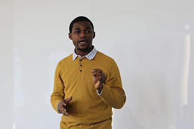photo of Azeez speaking